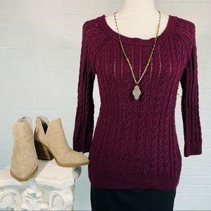 AMERICAN EAGLE Sweater - Burgundy - Small